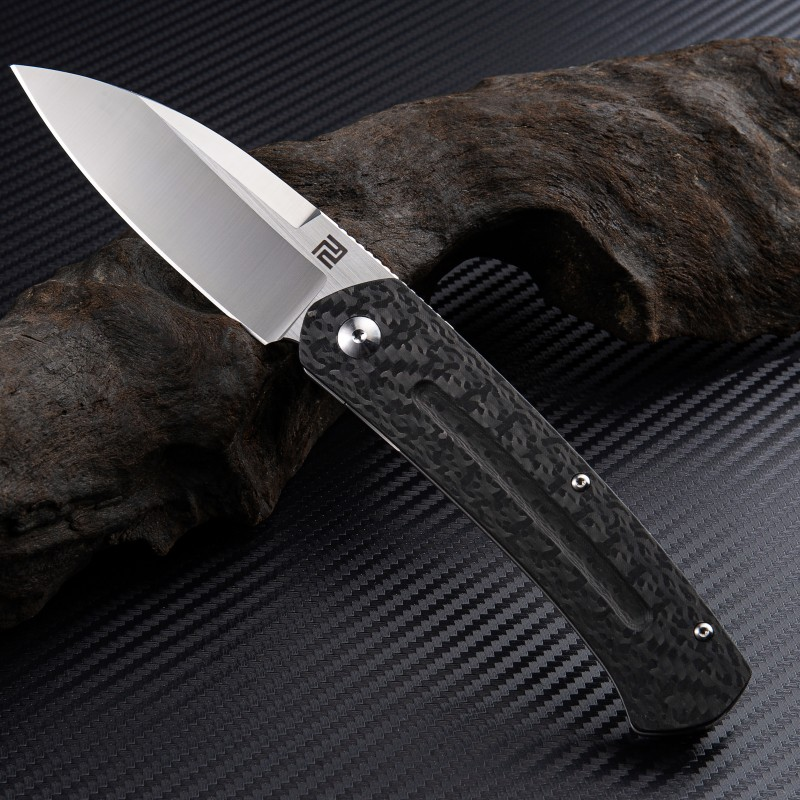 Artisan Cutlery Centauri ATZ-1839G S35VN Blade Titanium and Carbon fiber Handle Folding Knives