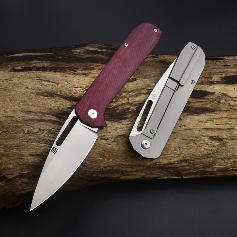 Artisan Cutlery Arion ATZ-1843G S35VN Blade Micarta and Titanium Handle Folding Knives